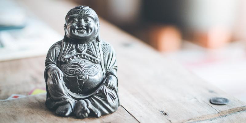 Buddha im schlafzimmer