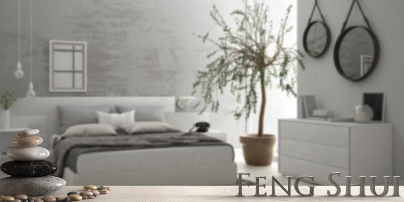 Feng Shui Schlafzimmer in hellen Tönen