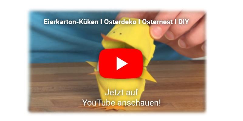 Osterdekoration aus einem Eierkarton basteln YouTube Video
