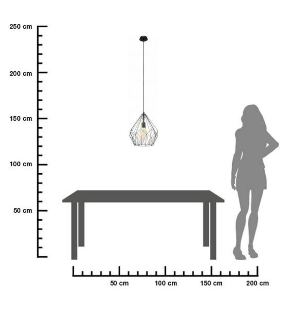 Hängeleuchte-CARLTON-schwarz-ø31cm-size