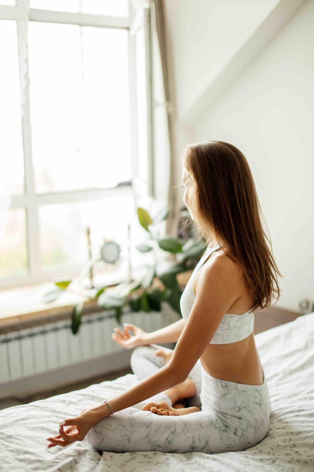 Meditieren im Bett