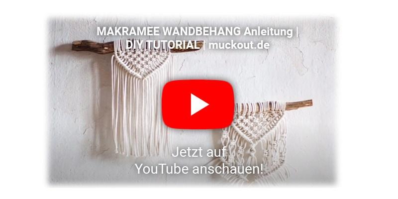 Makramee selber basteln YouTube Anleitung