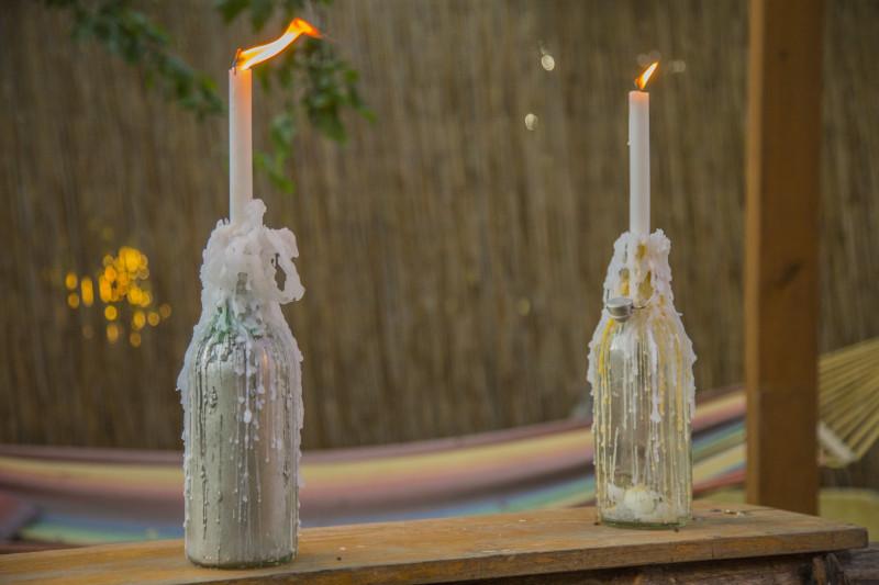 DIY Flaschen Kerzen
