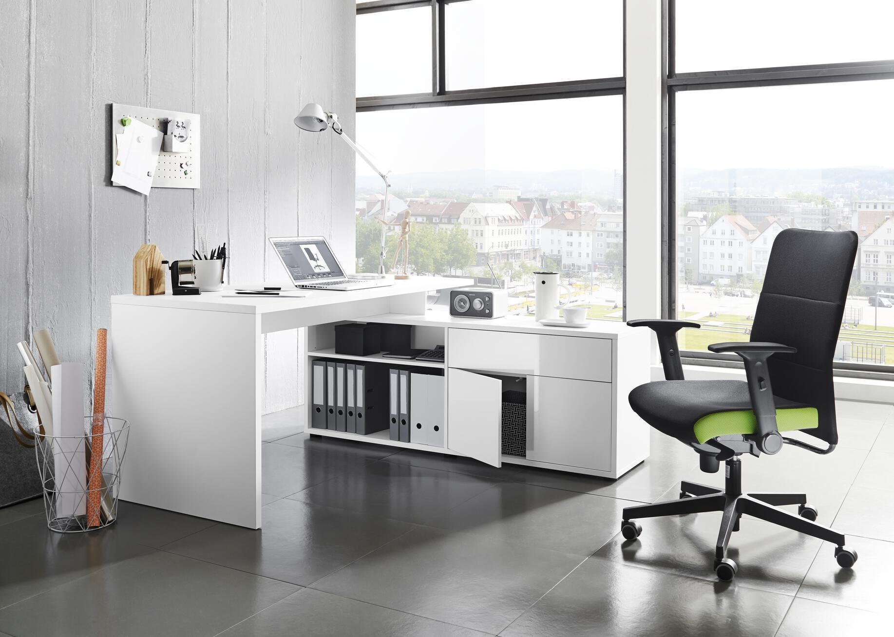 Schreibtischstuhl grau
