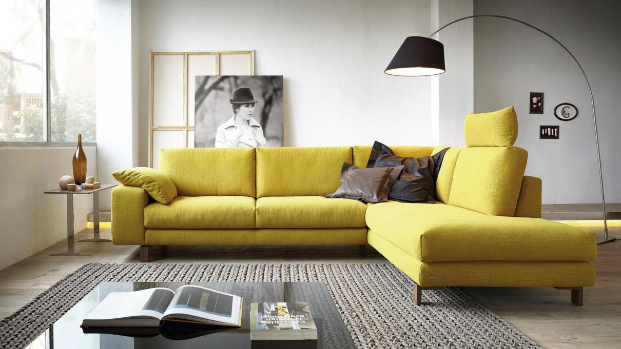 Koinor Sofa in gelb
