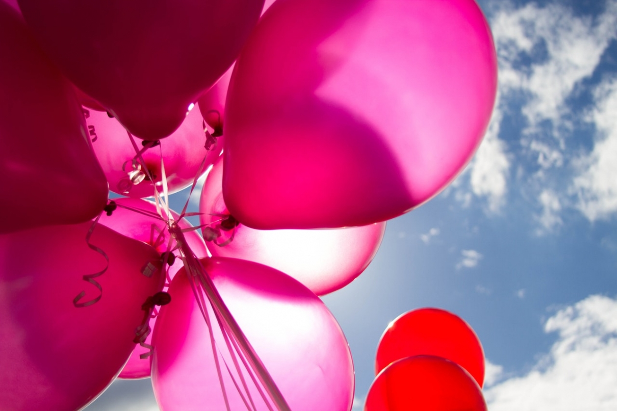 Pinke Ballons