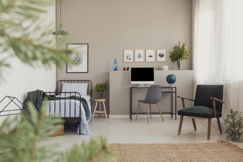 Lichtakzente in einer Einzimmerwohnung