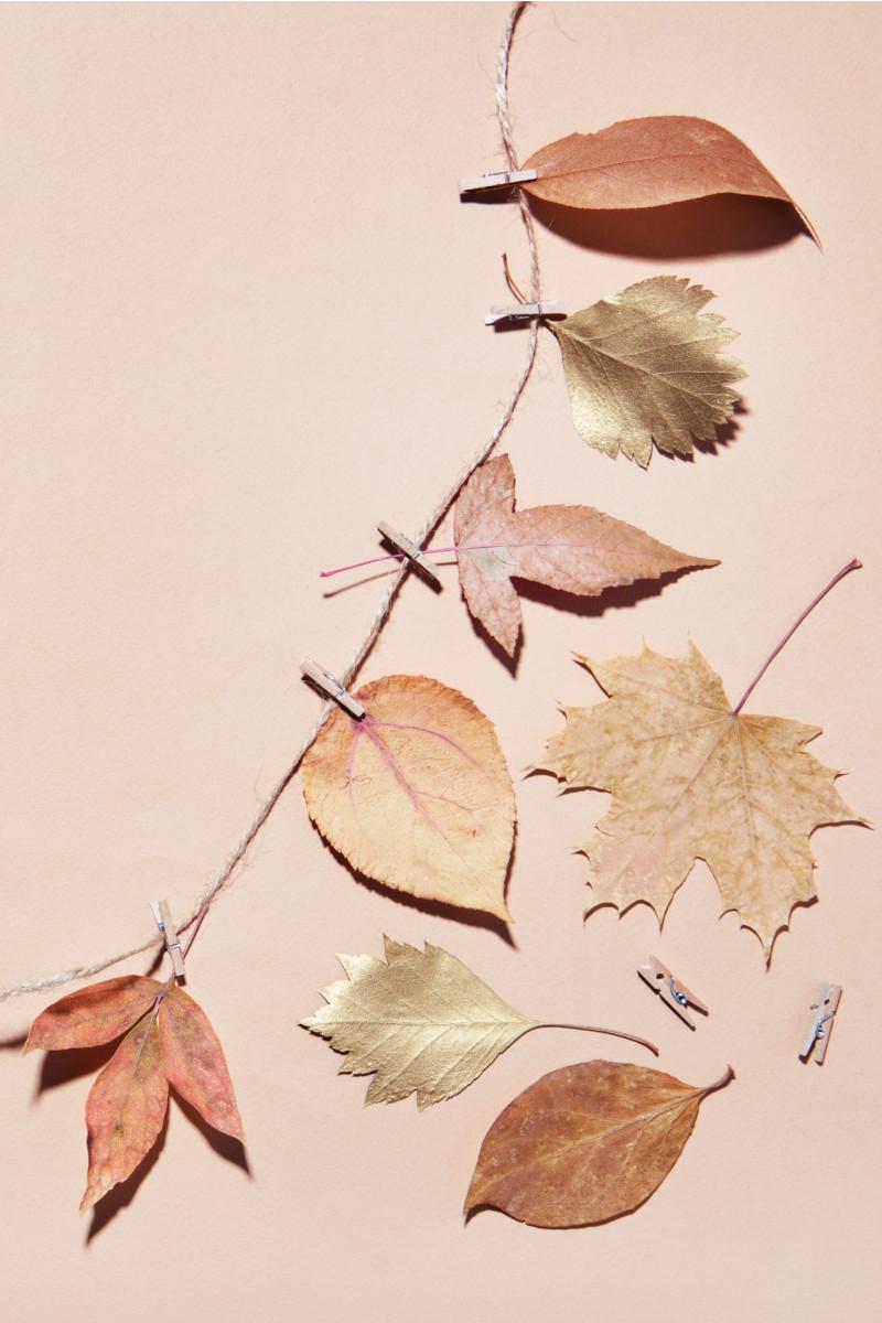 Blättergirlande selber basteln