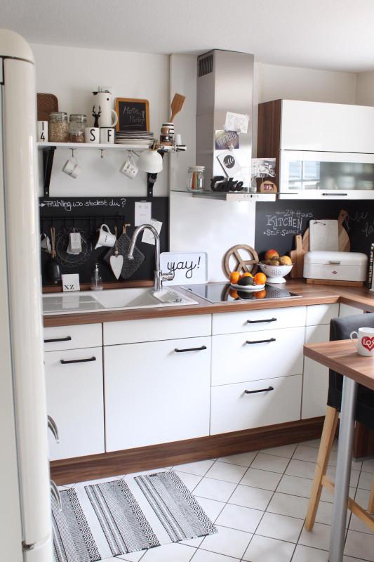 Alte Küche von der Bloggerin herein.spaziert