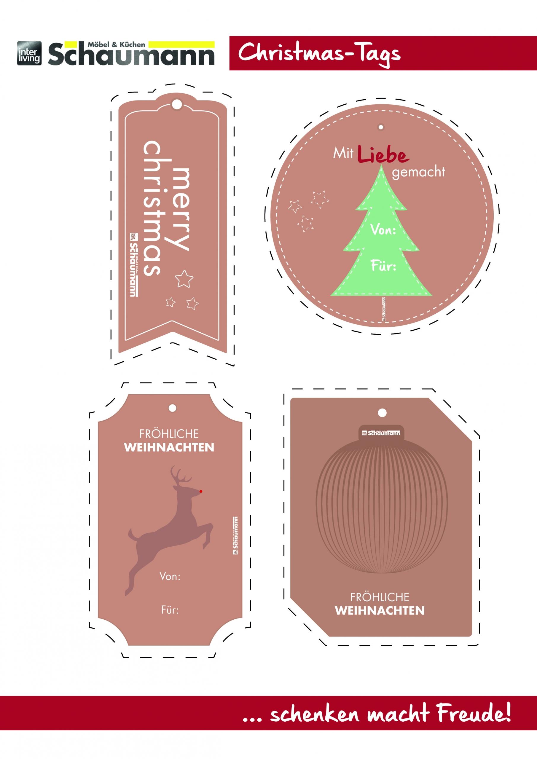 Schnittbogen für Weihnachten