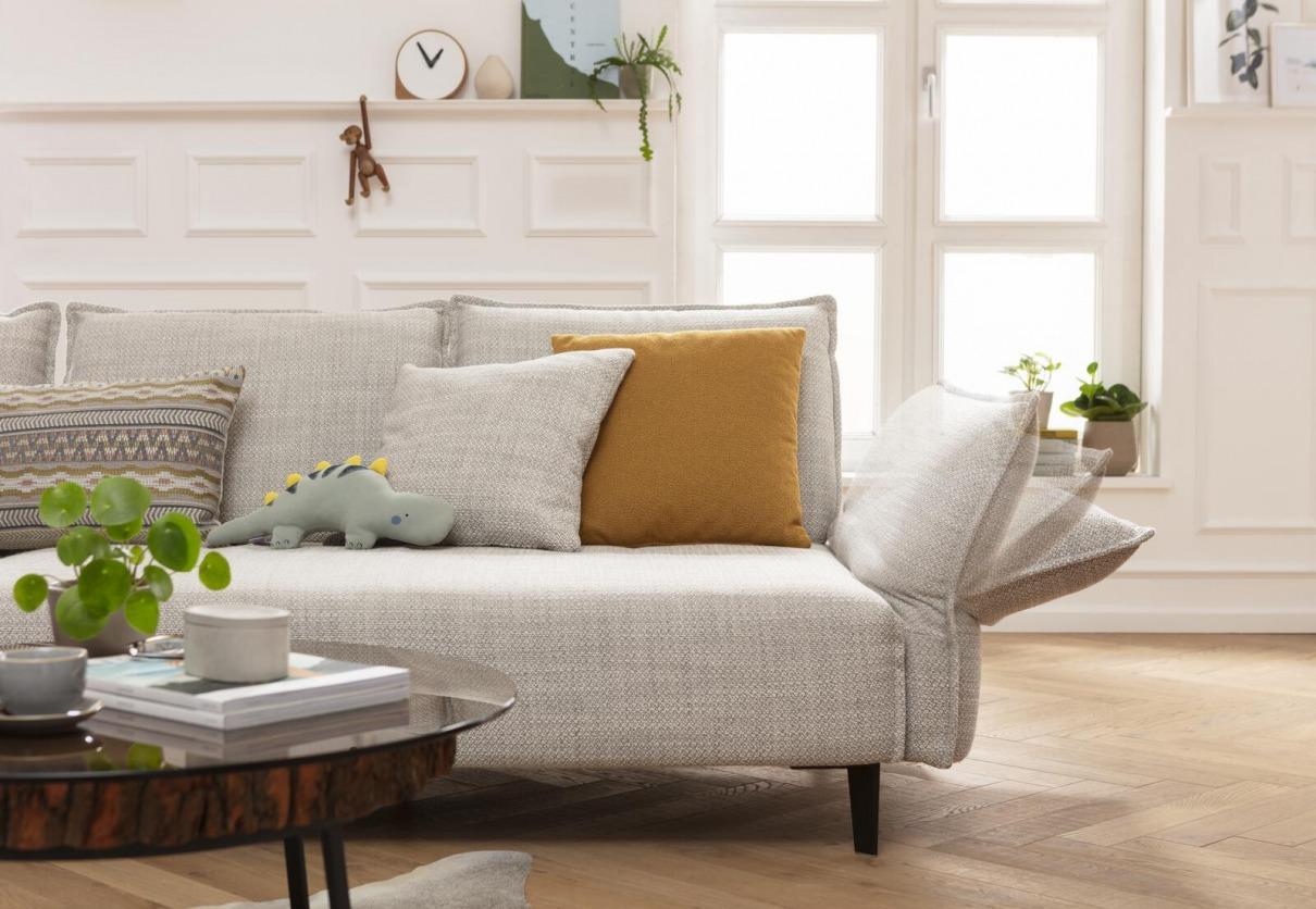 W. Schillig Sofa Cremefarben